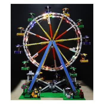 Ferris Wheel Lighting Kit for LEGO 10247 (LEGO set not included) by Brick Loot