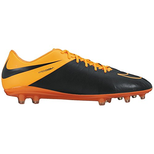 Nike Hypervenom Phinish cuir Fg Football Taquet (noir, Total Orange)