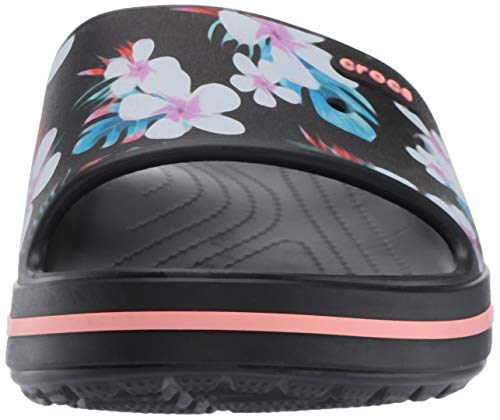 Crocs Crocband Ii Slide Graphic Nero Croslite floral qfqr6PwO
