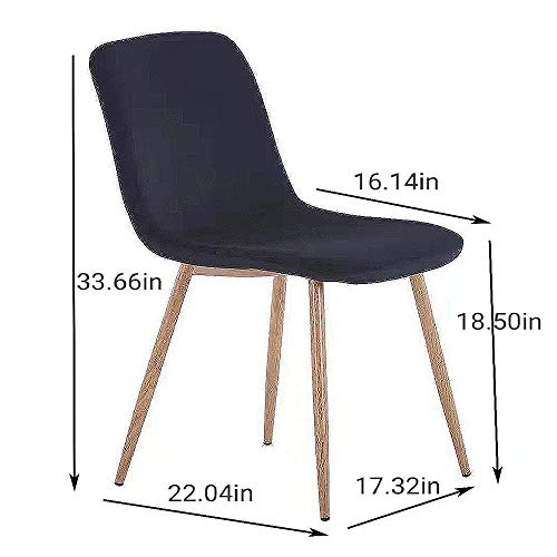 Romatlink Modern Dining Chair Chairs Set of 4 Outdoor Classic Fashionable Appearance Hard Wooden Frame for Any Room in The House Or Office, One Size,Simple Structure, Easy Installation