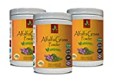 Blood Sugar Health Supplement - Alfalfa Organic Grass Powder - Pure and Potent Ingredients - Organic Non GMO Alfalfa - 3 Cans 24 OZ (168 Servings)