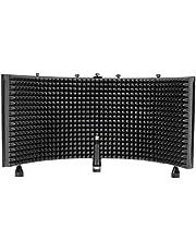 Rockville RockSHIELD 3 Escudo de aislamiento de micrófono grande con espuma de amortiguación de sonido