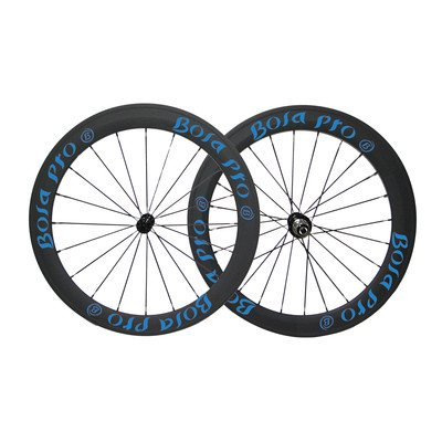 Bola Pro carbon bike wheelset,+/-0.2mm offset,Two Year Warranty,700C 50mm high 25mm wide tubular carbon rim with enduro ceramic bearing hub and Sapim Cx ray 20/24 spoke
