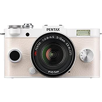 Pentax PENTAX Q-S1 02 Zoom Kit (Pure White) 12.4MP Mirrorless Digital Camera with 3-Inch LCD (Pure White)
