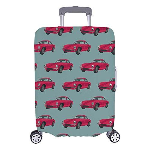 Cars Simple Luggage Cover,Vintage Red Vehicles Retro