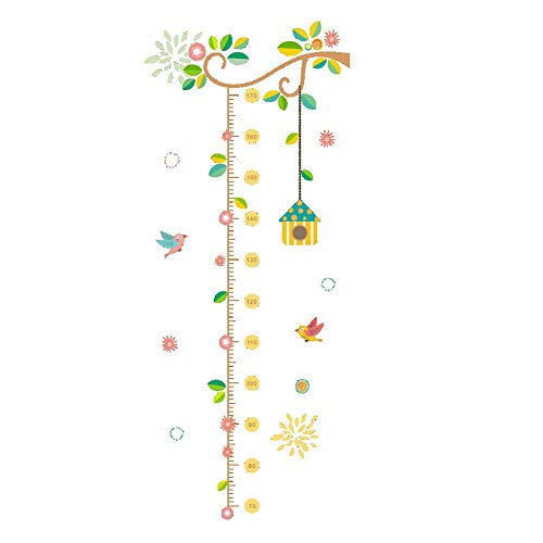 (Tcplyn Premium Quality Growth Chart Wall Sticker,Cartoon Animals Kids Height Measure Ruler Wallpaper Size 121cm x 50cm 1)
