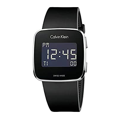 Calvin Klein Square Black Silicone Digital Future mens watch K5C21TD1