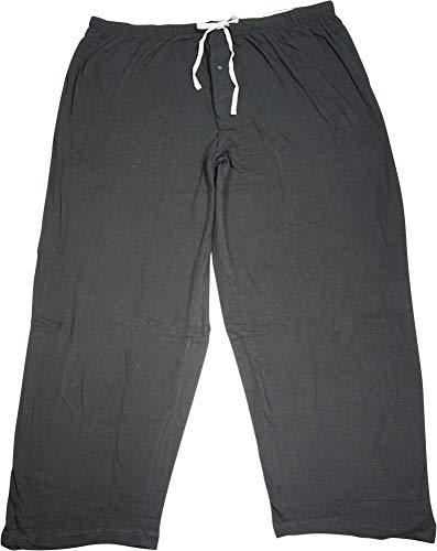 (Hanes - Big Mens Solid Knit Sleep Pant, Black)