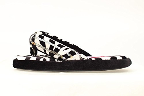 Blazin Roxx Women's Zebra Print Flip Flop Slippers Black Large US - Zebra Print Flip Flops