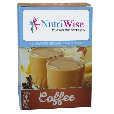 NutriWise - Coffee Meal Replacement Diet Shake, 100 Calories, 15g Protein