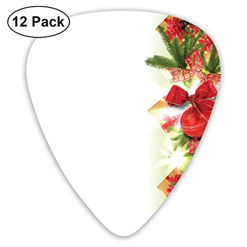 Guitar Picks 12-Pack,Classical Ribbons Baubles Used To Festoon The Xmas Tree Winter