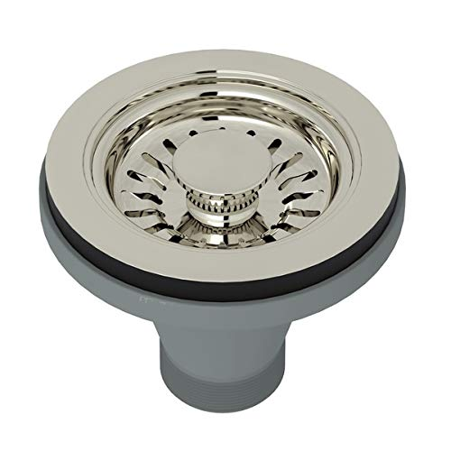 BASKET STRAINER WITHOUT REMOTE POP-UP WITH LARGE 1 7/16^ DIAMETER PULL KNOB IN POLISHED NICKEL MANUAL OPERATION