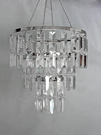 10 5 Quot Wide 3 Tiered Faux Crystal Chandelier Small
