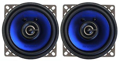 Crunch 10,2 cm (4 Zoll) Koax Lautsprecher, 2-Wege, 120W, 4 Ohm, 13mm Neodym-Mylarkalotte, Magnetschutz, inkl. Schutzgitter, Einbautiefe 50mm Maxxsonics USA DRIVE CDS42CX