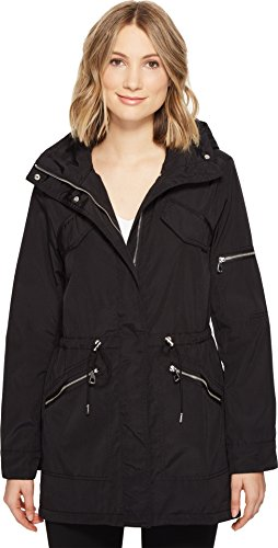 Vince Camuto Womens Lightweight Parka With Drawstring Waist and Hem Black XL (US 16) One (Fully Lined Parka)
