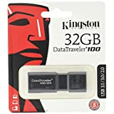 Kingston Digital 32GB 100 G3 USB 3.0 DataTraveler (DT100G3/32GB)