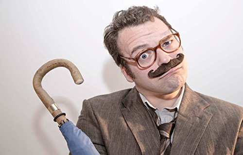 The 'Boss' fake stick-on fancy dress moustache from Super-Stache - Blonde