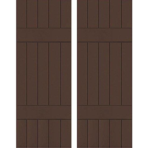 Ekena Millwork RWB18X073TBW Exterior Five Board
