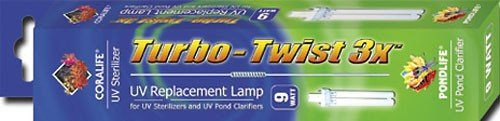 Coralife Pond Turbo Twist - Coralife 9W Turbo Twist UV Sterilizer Lamp