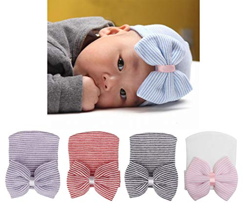 ec3820e2bda Xinshi Newborn Hat Soft Turban Baby Girl Big Bow Knot Cap. by xinshi.  Color  B2-hc01 (3pcs). product-variation. product-variation.  product-variation