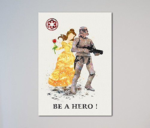 Star Wars Stormtrooper Beauty and the Beast Belle Print