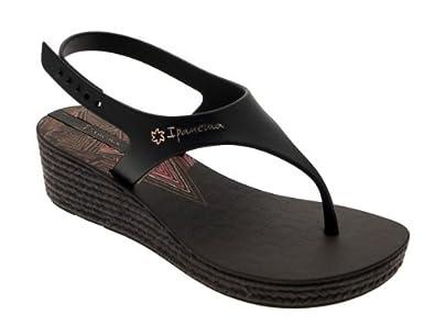 352d5d3e416b WOMENS IPANEMA WEAVE WEDGE SANDALS ANKLE STRAP FLIP FLOPS TOE POSTS WEDGES  BLACK 5  Amazon.co.uk  Shoes   Bags