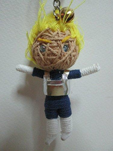 Dragon Ball Z Super Saiyan Vegeta Voodoo String Doll Keychain