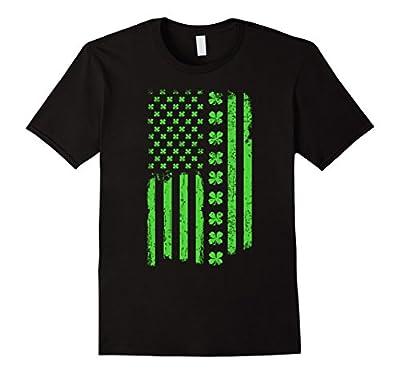 St. Patrick's Day Irish American USA Flag Patty's Day Shirt