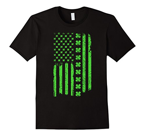 St. Patrick's Day Irish American USA Flag Patty's Day Shirt