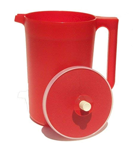 (Tupperware 2 Quart Classic Push Button Pitcher Bold Red)