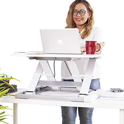 TOTALPACK Standing Desk Sit Stand Desk Converter - Anti Fatigue Height Adjustable Workstation, Extra Large 26.5