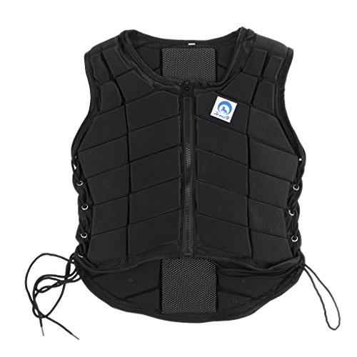 MonkeyJack Safety EVA Padded Breathable Horse Riding Equestrian Vest Protective Gear Body Protector Guard Shock Absorption Waistcoat - Kids Adult All Size Available - Kids ()