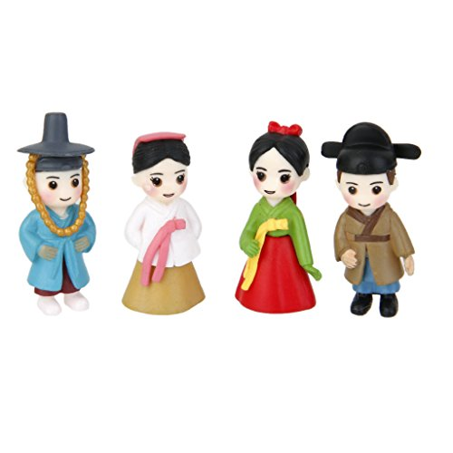 MagiDeal 2 Pairs Miniature Dollhouse Bonsai Craft Fairy Garden Glass Vase Korean Lovers Decor (Fairy Dolls Miniature)