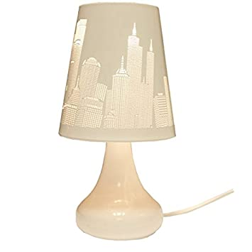 Lampe De Chevet Tactile Design 3 Intensites Lumineuses New York