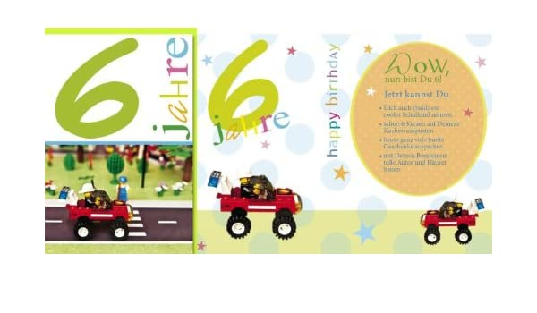 Tarjeta cumpleaños número 6 Playmobil, 5 unidades): Amazon ...