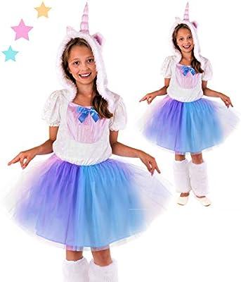 Disfraz infantil de princesa unicornio, completo, para niña ...