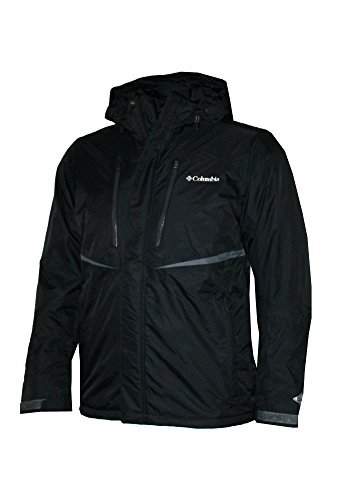 Columbia Men's Frozen Granular Insulated Hooded Omni Heat Jacket (Black, M)