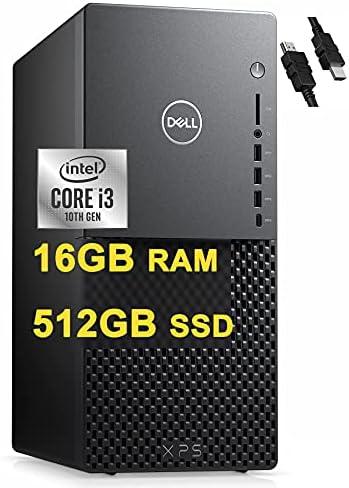 Flagship 2021 Dell XPS 8940 Desktop Computer 10th Gen Intel Quad-Core i3-10100 (Beats i5-8400)16GB RAM 512GB SSD Intel UHD Graphics 630 USB-C WiFi Win10 + iCarp HDMI Cable