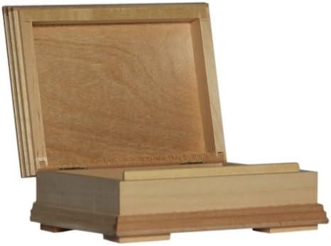 Plain Madera – Caja con Forma de Libro Caja de Almacenamiento de ...