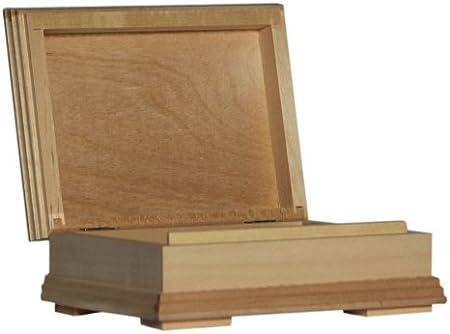 Plain Madera – Caja con Forma de Libro Caja de Almacenamiento de Madera – Decoupage KFR: Amazon.es: Hogar