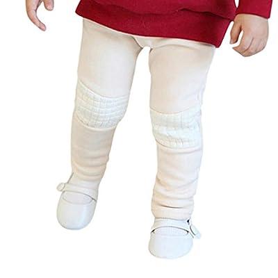 Hometom Kids Thermal Pants Elastic Solid Trousers Baby Leggings