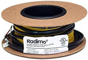 Radimo radicable-90–240240V Under床暖房システム、90平方フィート。