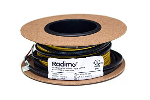 UPC 815846011222, Radimo RADICABLE-40-120 120V Under Floor Heating System, 40 sq. ft.