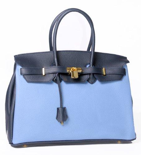 Charming Chics, Borsa a mano donna Blu Blu One Size