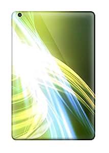 New Style Ipad Mini 2 Green Abstract Tpu Silicone Gel Case Cover. Fits Ipad Mini 2