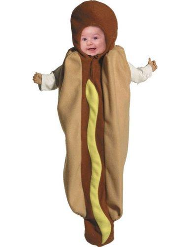 [Hot Dog Bunting Costume - Newborn] (Hot Dog Baby Costumes)