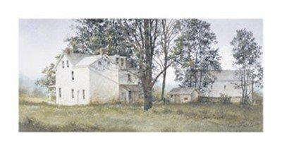 (16x30) Ray Hendershot Primrose Farm Art Print Poster - Farm Primrose