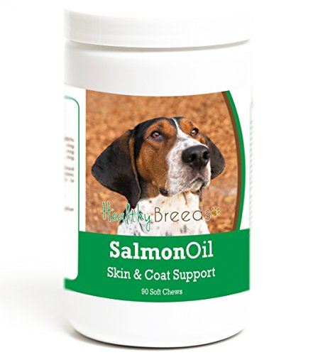 (Healthy Breeds Clean Salmon Oil Soft Chews for Dogs for Treeing Walker Coonhound - Over 200 Breeds - Omega 3 & 6 EPA DHA Fatty Acid Support - Easier Than Capsules & Pumps - 90 Chews)