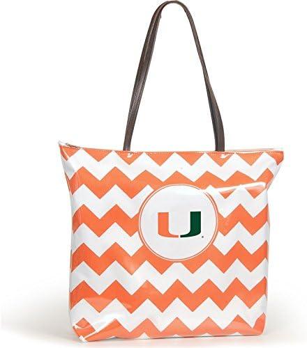 NCAA Miami Hurricanes Chevron Shopper Tote