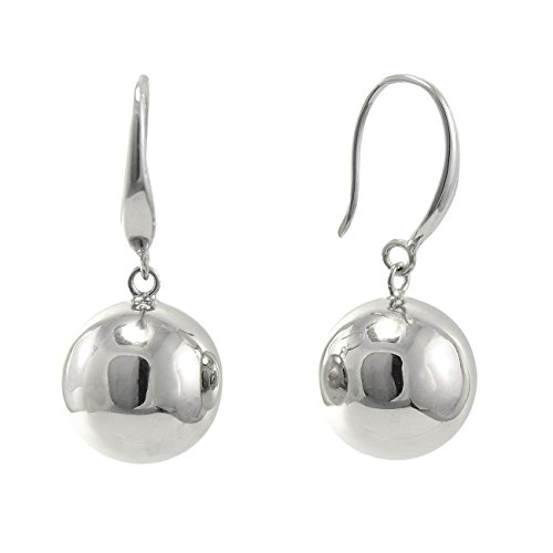 - Paialco 925 Sterling Silver Polished Round Ball Dangle Earrings 12MM